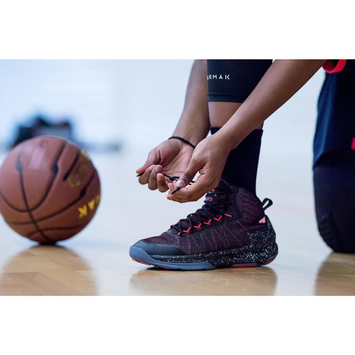 Chaussure de Basketball adulte confirmé Homme/Femme Shield 500 rouge noire