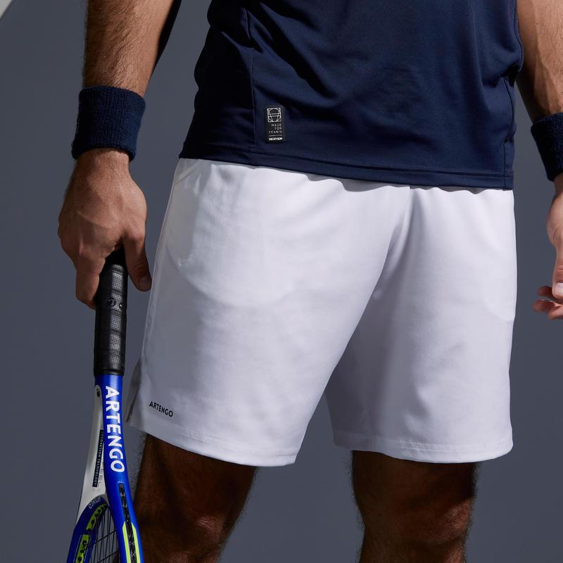 descuento especial de estilo máximo último vendedor caliente Shorts - PANTALÓN CORTO DE TENIS HOMBRE DRY 500 BLANCO