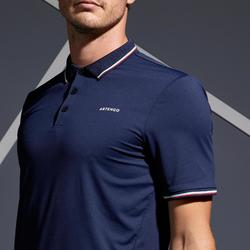 Heren tennispolo Dry 500 marineblauw