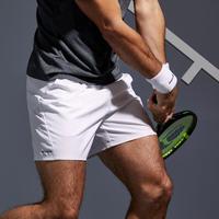 Short de Tenis Dry 100 Hombre Blanco
