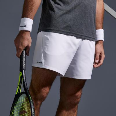 Pantaloneta corta de Tenis Dry 100 Hombre Blanco