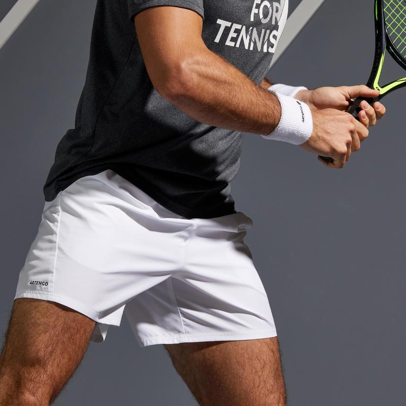 SHORT TENNIS HOMME DRY 100 BLANC