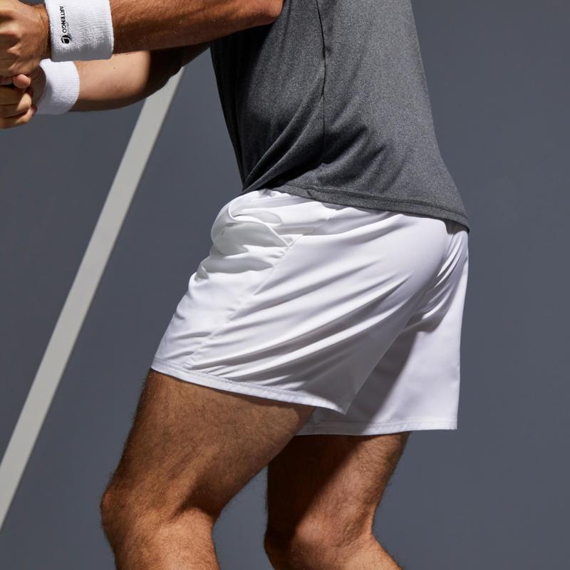 กางเกงเทนนิสขาสั้นสำหรับผู้ชายรุ่น Dry TSH 100 (สีขาว)