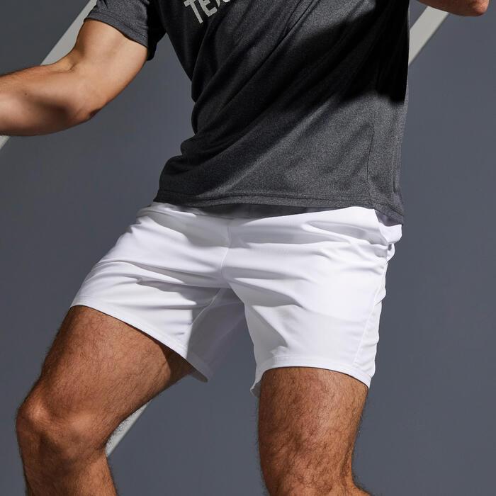 Tennisshorts Dry 100 Herren weiß