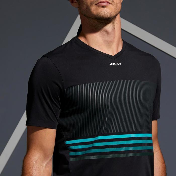 Tennisshirt voor heren TTS 900 Light zwart blauw turquoise