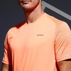 Tennisshirt heren Dry 500 koraal