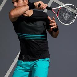 Men's Tennis T-Shirt TTS 900 Light - Black/Turquoise