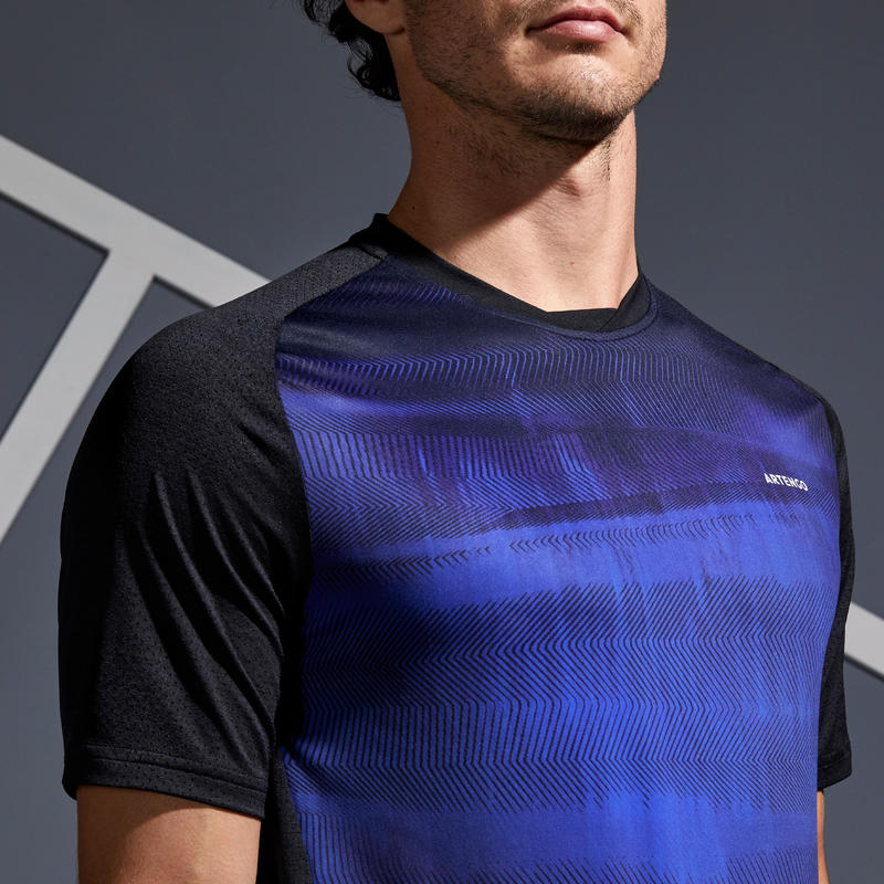 Dry 500 Tennis T-Shirt - Black/Blue