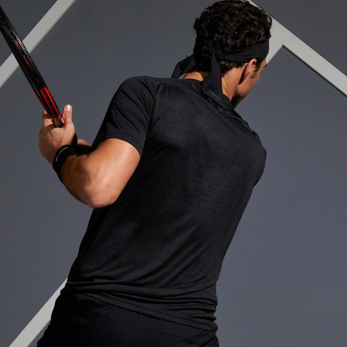 T-shirt voor tennis heren Dry 500 zwart