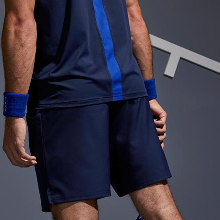 Short de tennis au sec TSH500 marine– Homme