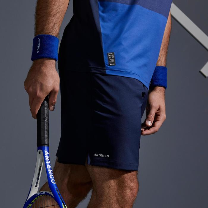 男款快乾網球短褲TSH 500-軍藍色