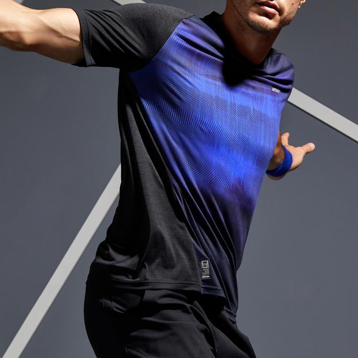 T-Shirt Dry 500 Herren schwarz/blau