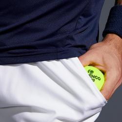 男款快乾網球短褲TSH 500-白色