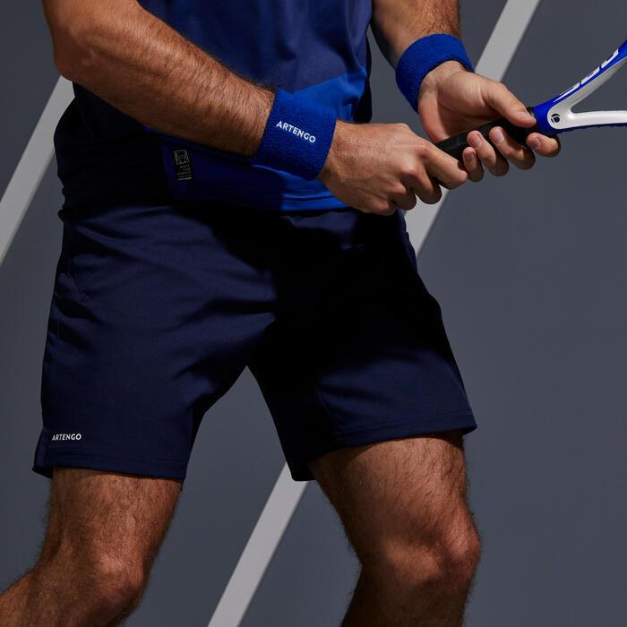 Tennisshort voor heren Dry 500 marineblauw