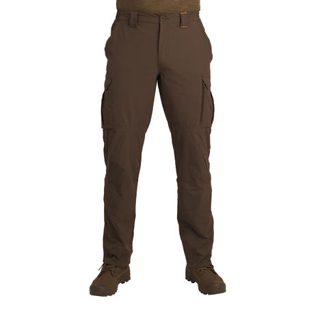 Light and breathable 500 trousers dark brown