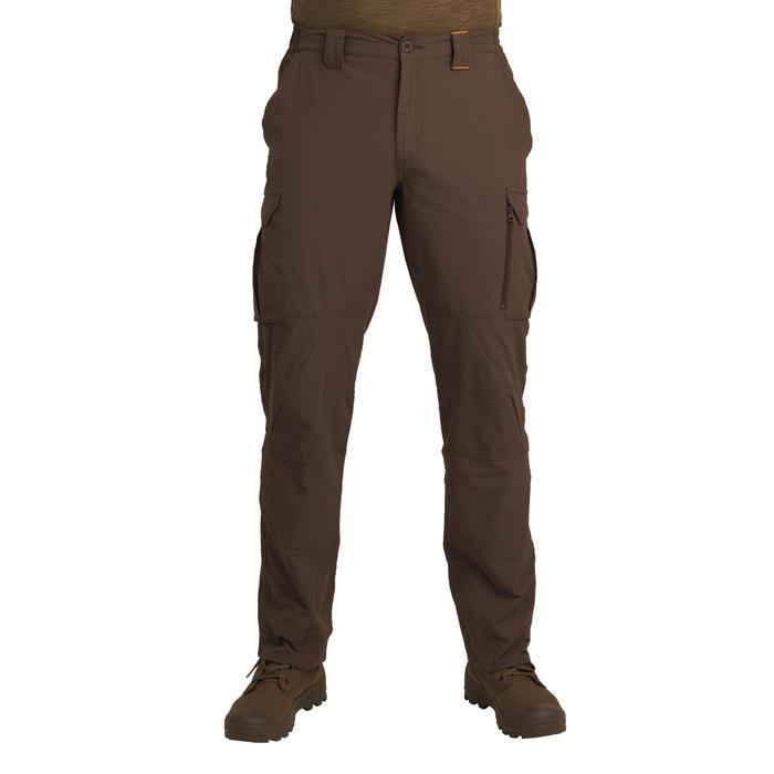 Pantalon léger et respirant chasse 500 marron foncé