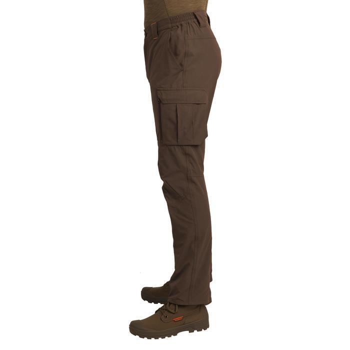 Jagdhose 500 leicht atmungsaktiv dunkelbraun