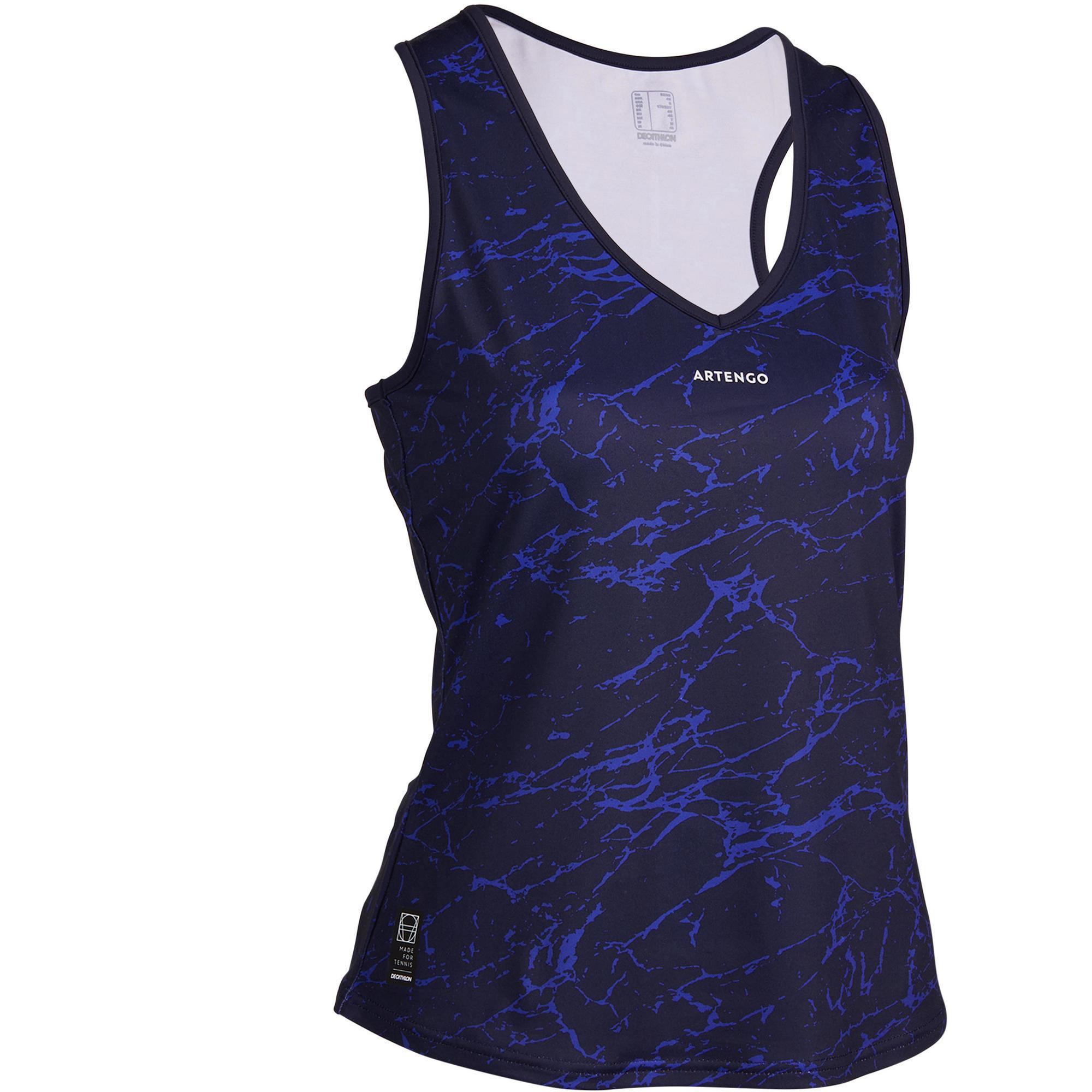 Tennis-Top TK Light 900 Damen marineblau   Sportbekleidung > Sporttops > Tennistops   Blau   Artengo