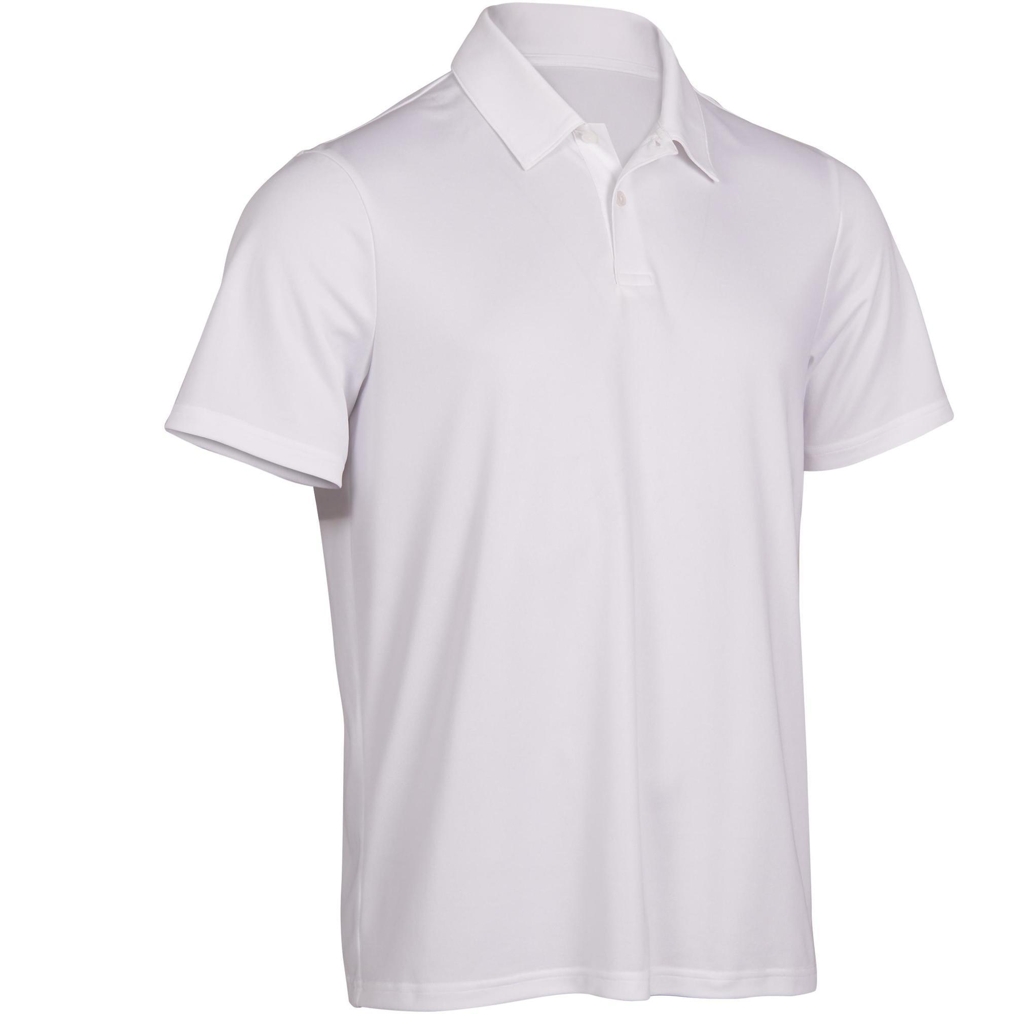 Polo tennis homme dry 100 blanc artengo