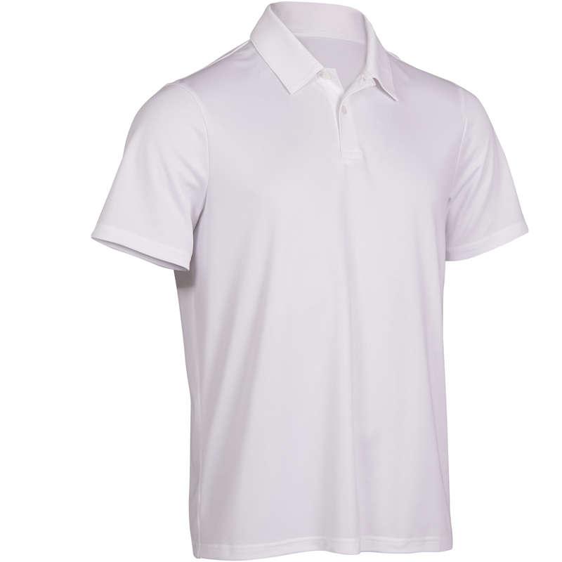 MEN WARM CONDITION RACKET SP APAREL Squash - Dry 100 Polo - White ARTENGO - Squash Clothing