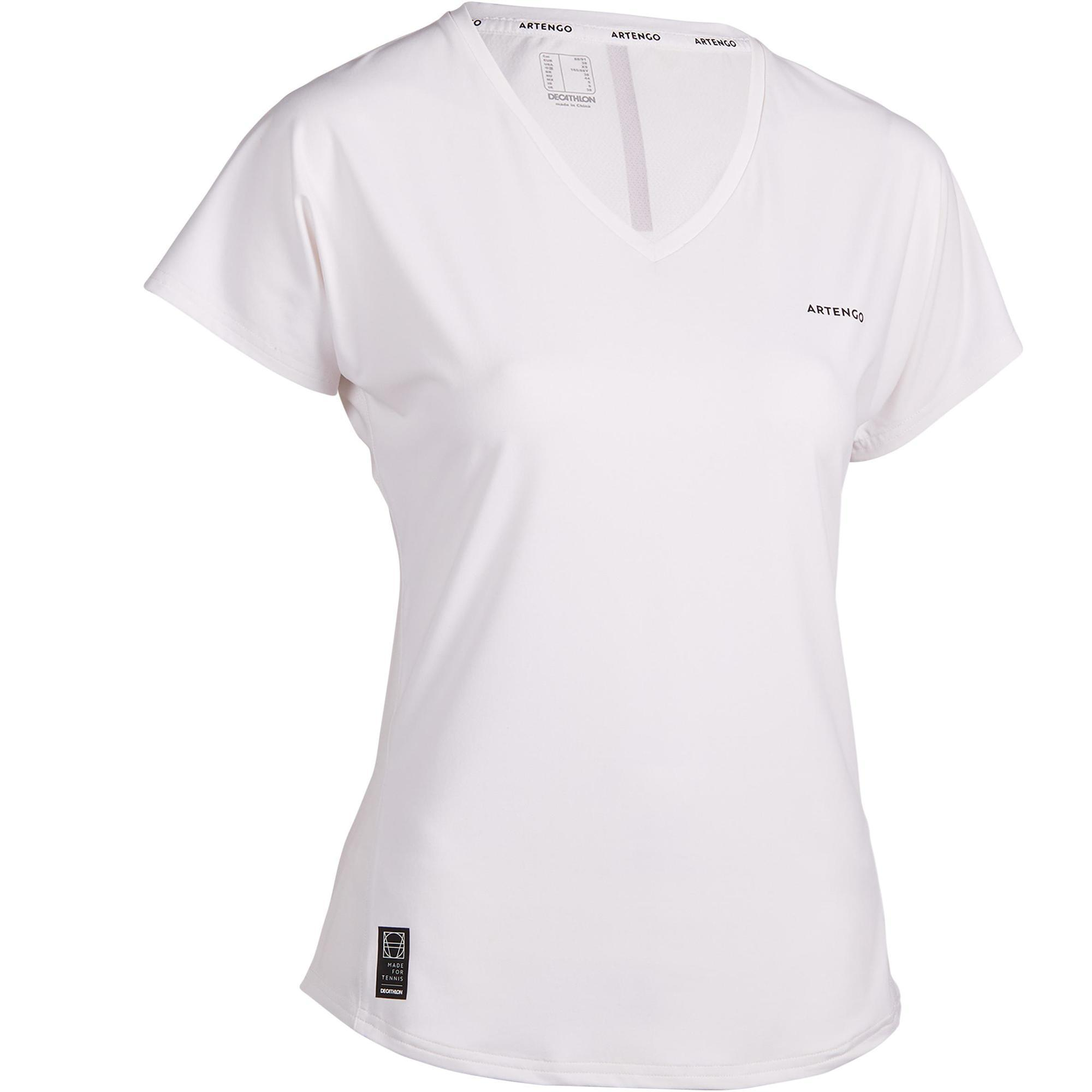 Artengo T-shirt voor tennis dames TS Soft 500 wit