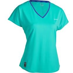 Tennis-Shirt TS Soft 500 Damen türkis