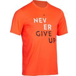 4ce90c37ae4 Tennisshirt voor heren Soft 100 oranje. T-shirt voor tennis ...