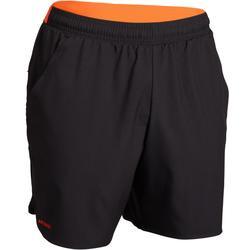 快乾網球短褲500-黑色/橘色