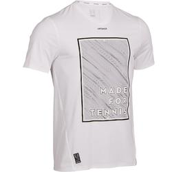 TEE SHIRT DE TENNIS HOMME LIGHT 900 BLANC JAUNE