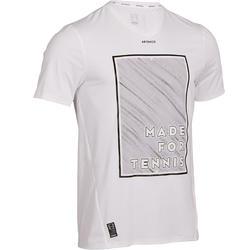 Tennisshirt voor heren Light 900 wit/geel
