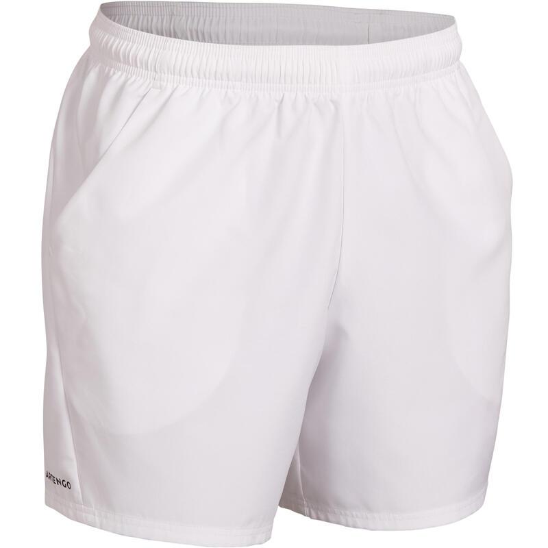 男款快乾網球短褲TSH 100-白色