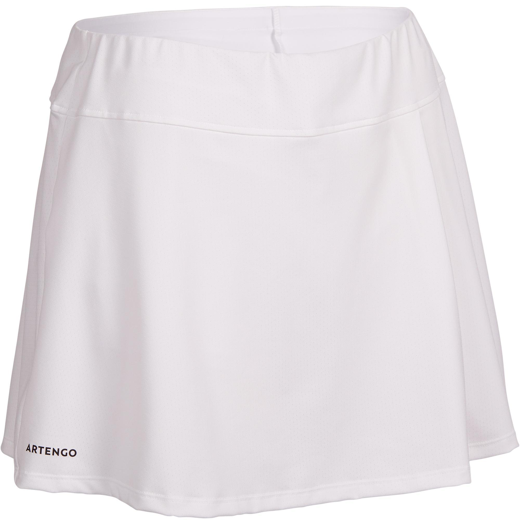 Tennisrock SK Soft 500 Damen weiß | Sportbekleidung > Sportröcke | Weiß | Artengo