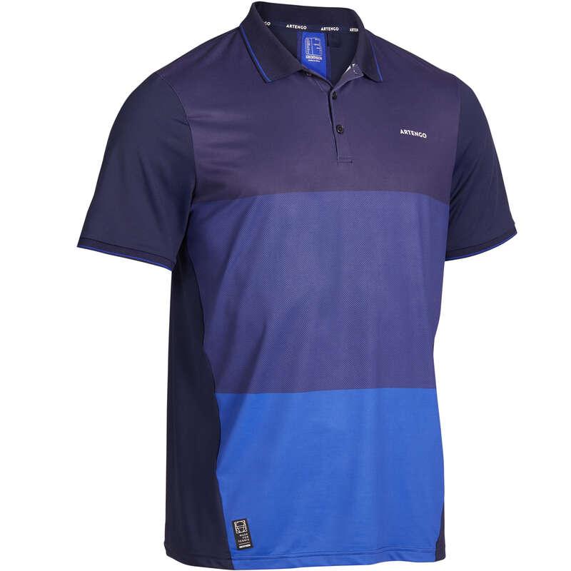 MEN WARM CONDITION RACKET SP APAREL Squash - Dry 500 Polo - Graphite Blue ARTENGO - Squash Clothing