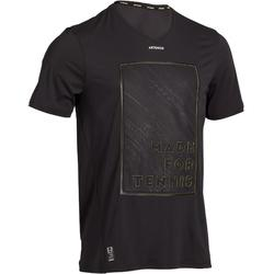 TEE SHIRT DE TENNIS HOMME LIGHT 900 NOIR JAUNE