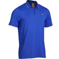 Dry 500 Tennis Polo Shirt - Blue/Coral