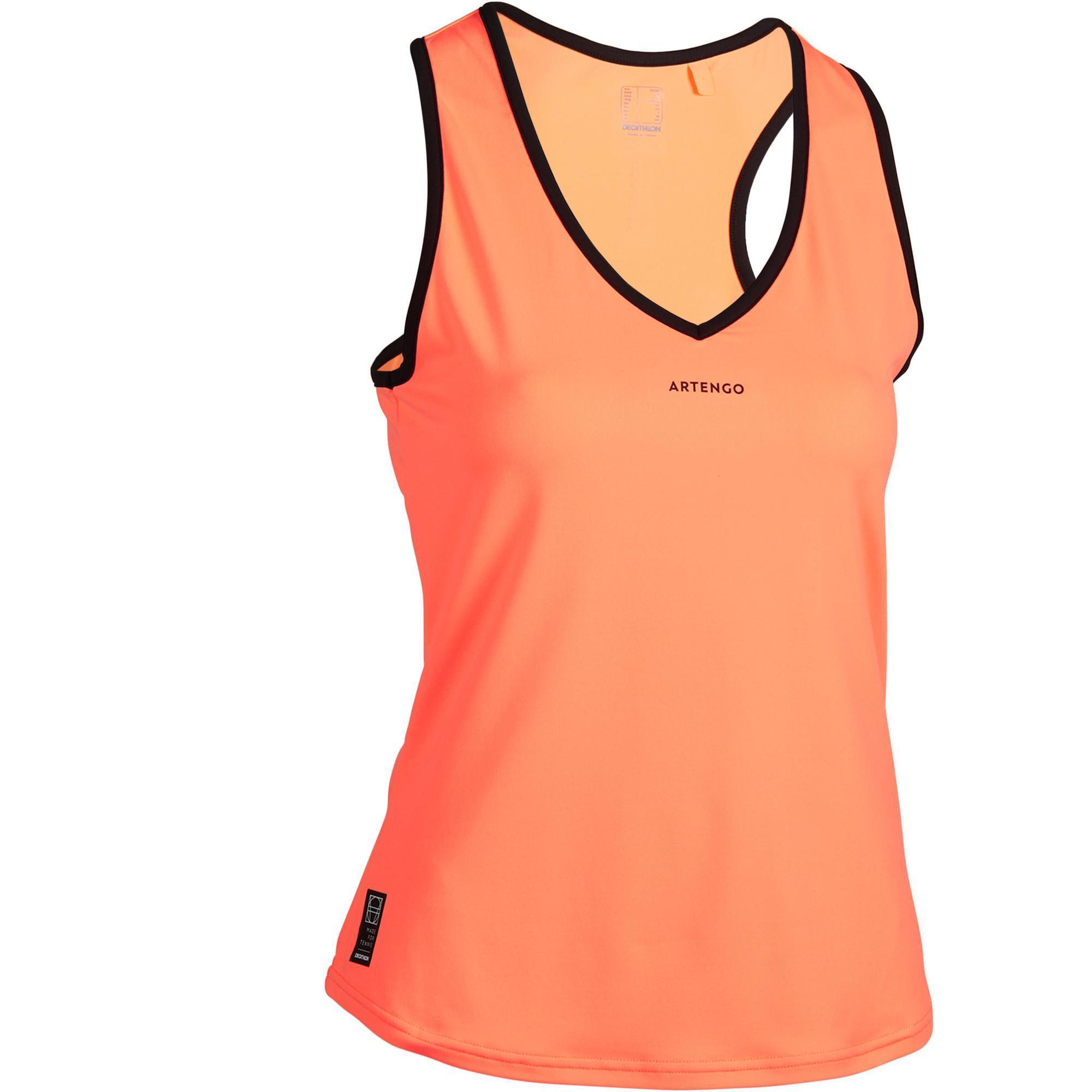 Tennis-Top TK Light 900 Damen orange   Sportbekleidung > Sporttops > Tennistops   Artengo