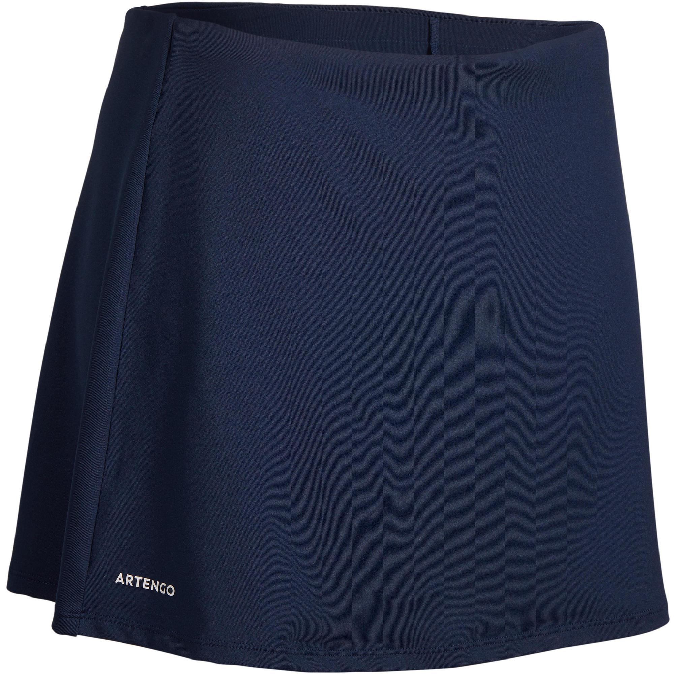 Tennisrock Essential 100 Damen marineblau | Sportbekleidung > Sportröcke > Tennisröcke | Artengo
