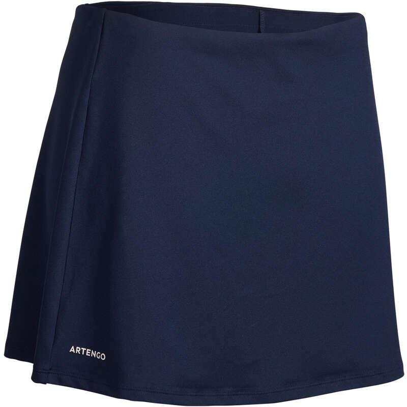 WOMEN WARM CONDITION RACKET SP APAREL - Essential 100 Skirt - Navy ARTENGO