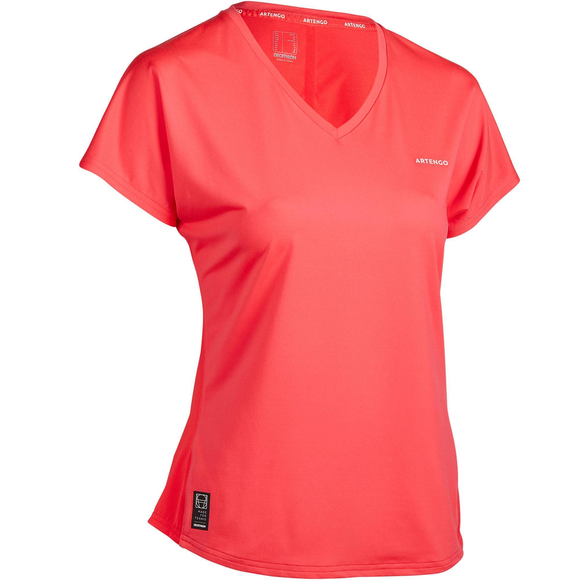 Tennis T-Shirt TS Soft 500 Damen rosa | Sportbekleidung > Sportshirts > Tennisshirts | Rosa | Baumwolle | Artengo