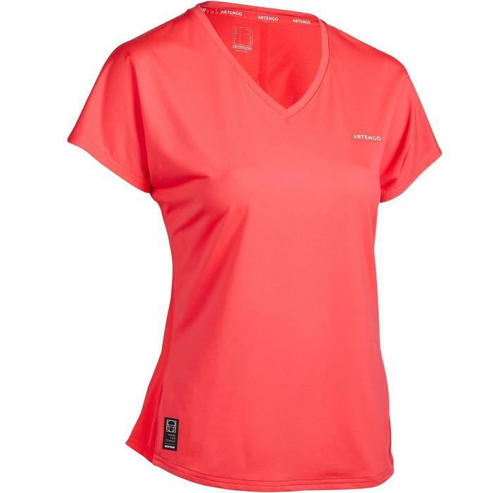 Tennis T-shirt voor dames Soft 500 roze