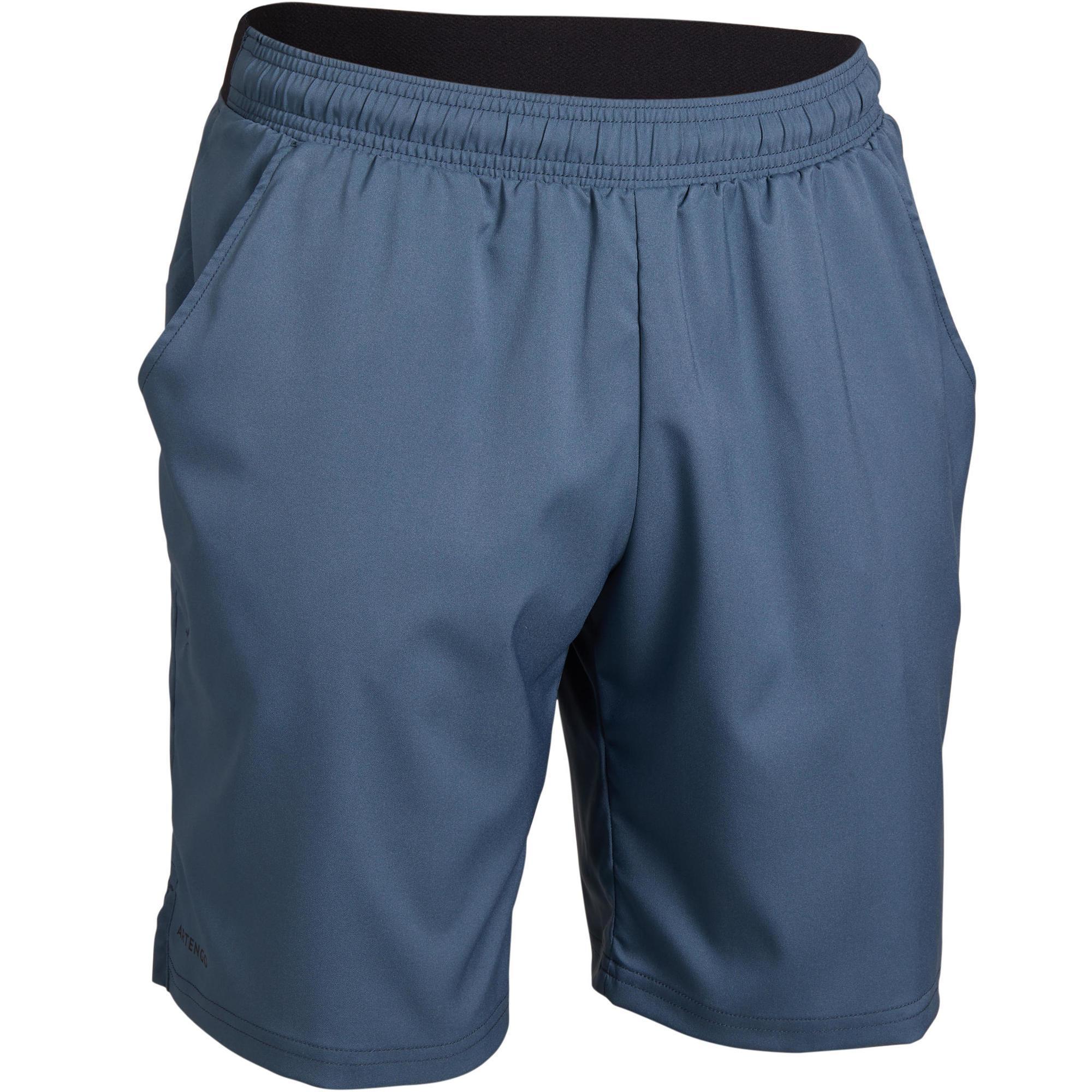 Tennis-Shorts Dry 500 Herren grau | Sportbekleidung > Sporthosen > Tennisshorts | Grau - Blau - Schwarz | Artengo