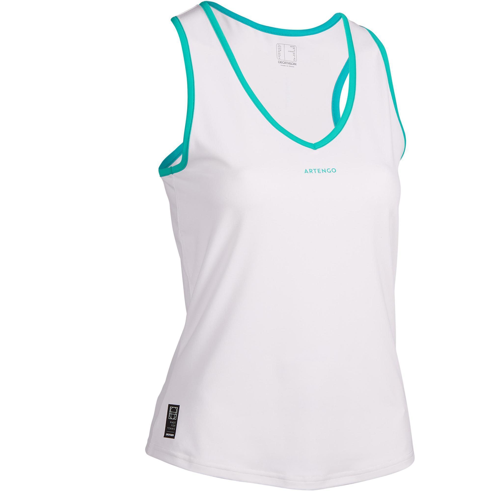 Tennis-Top TK Light 900 Damen weiß   Sportbekleidung > Sporttops > Tennistops   Artengo