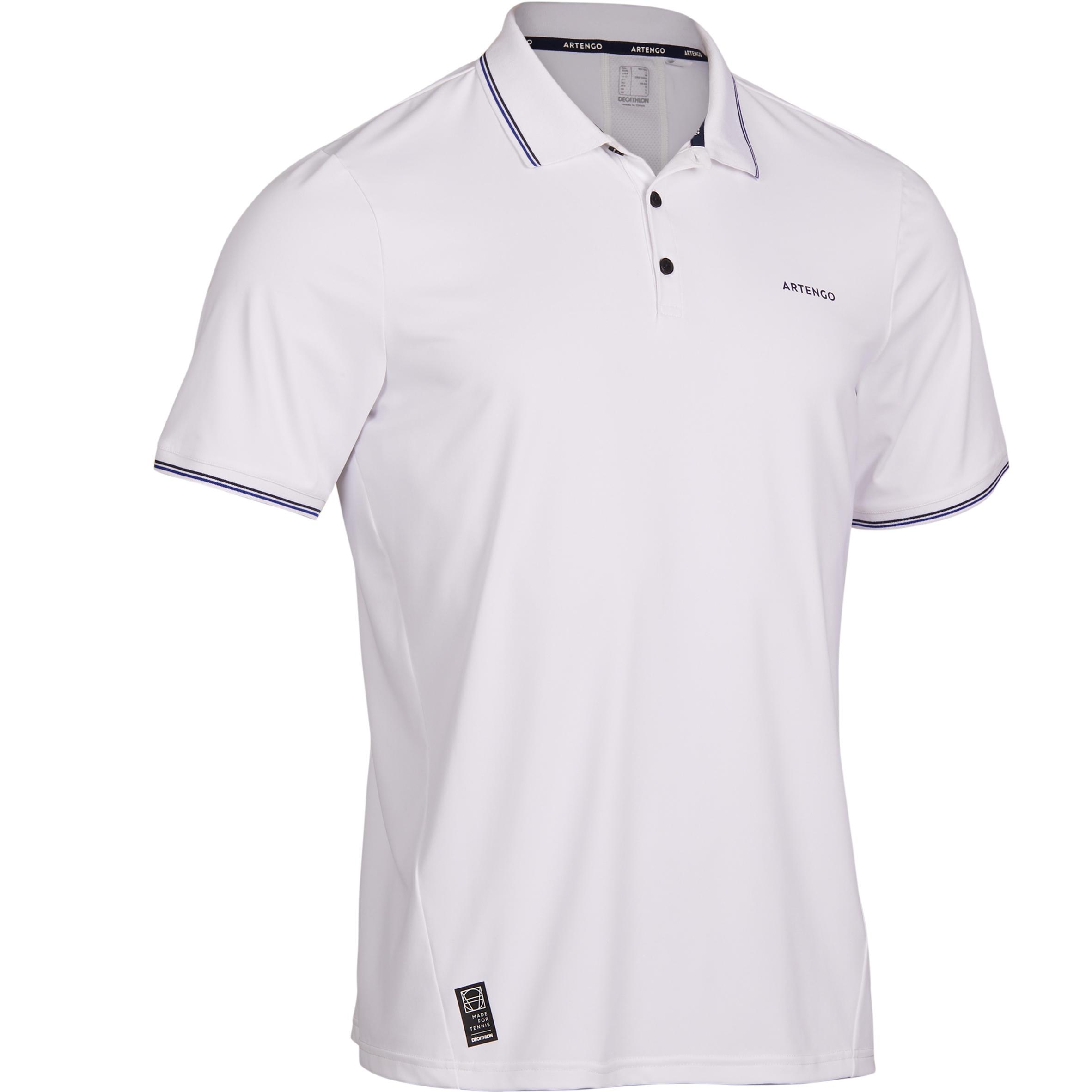 Polo T-shirt Tennis -Dry 500 White
