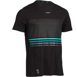 Light 900 Tennis T-Shirt - Black/Turquoise Blue