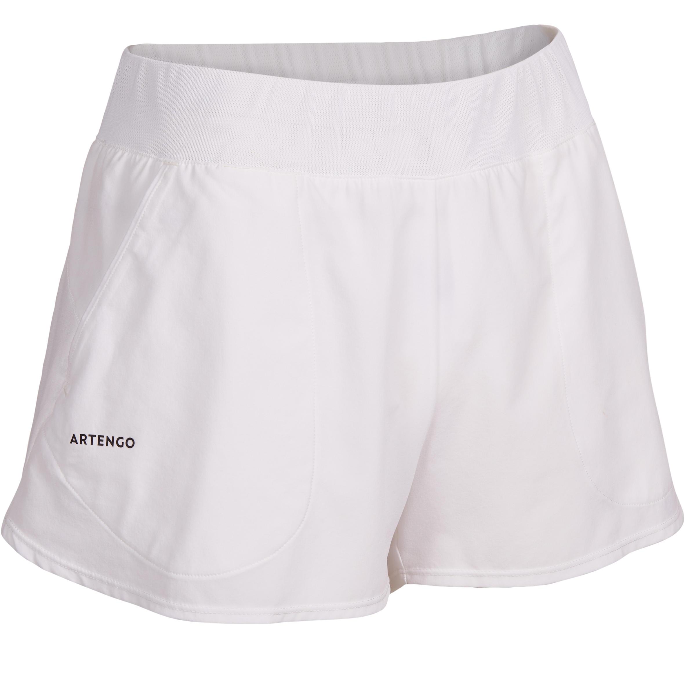 Shorts SH Soft 500 Tennishose Damen weiß | Sportbekleidung > Sporthosen > Tennisshorts | Weiß | Artengo