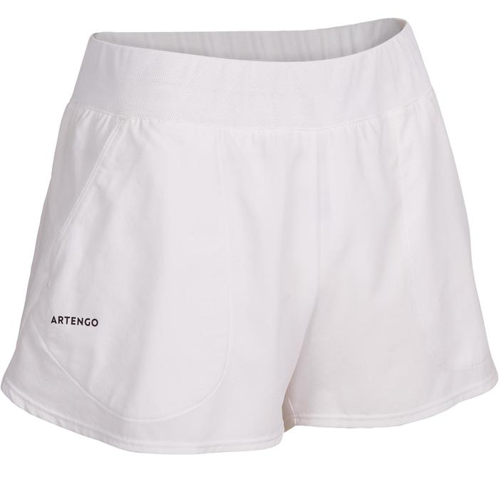 Shorts SH Soft 500 Tennishose Damen weiß