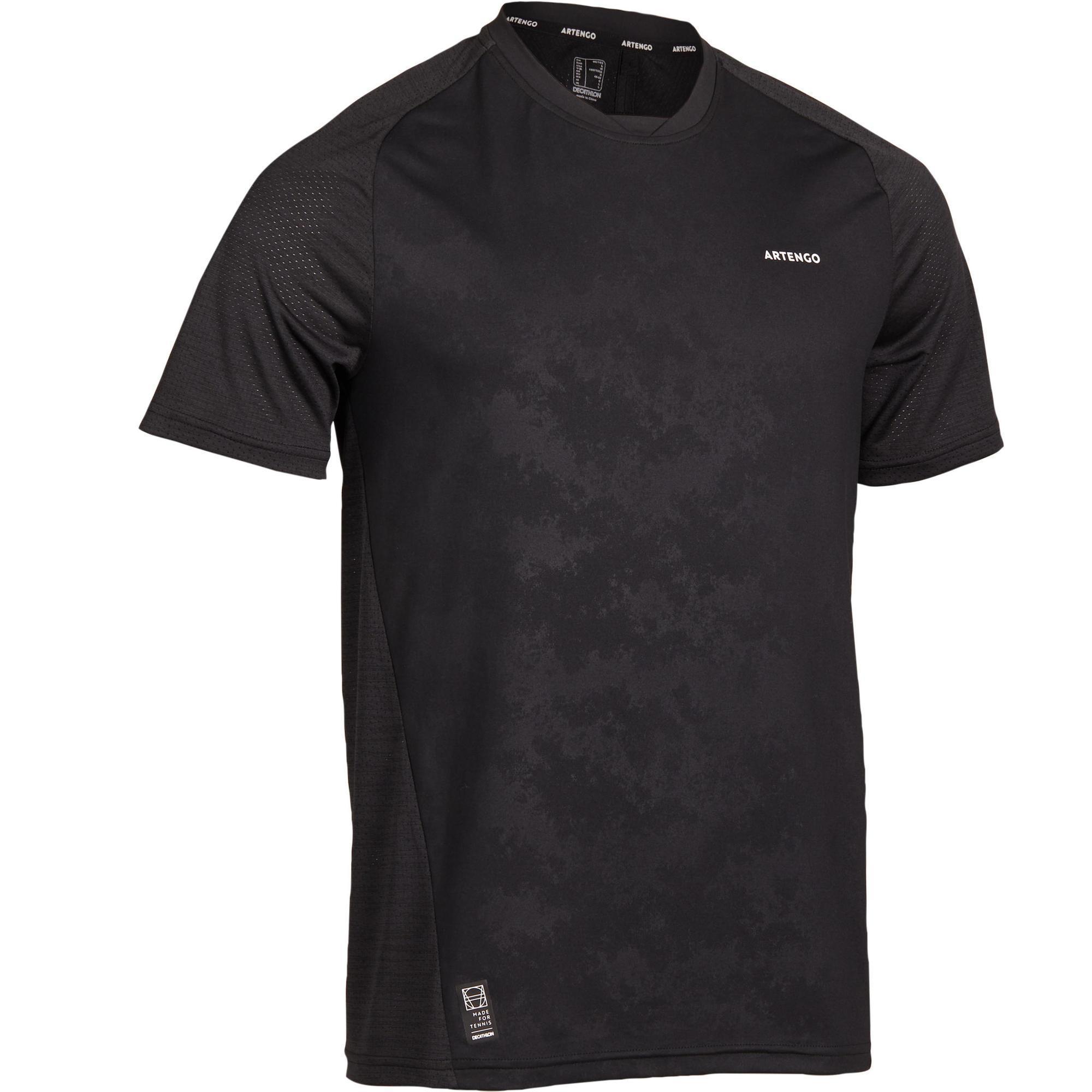 Artengo T-shirt voor tennis heren Dry 500 zwart