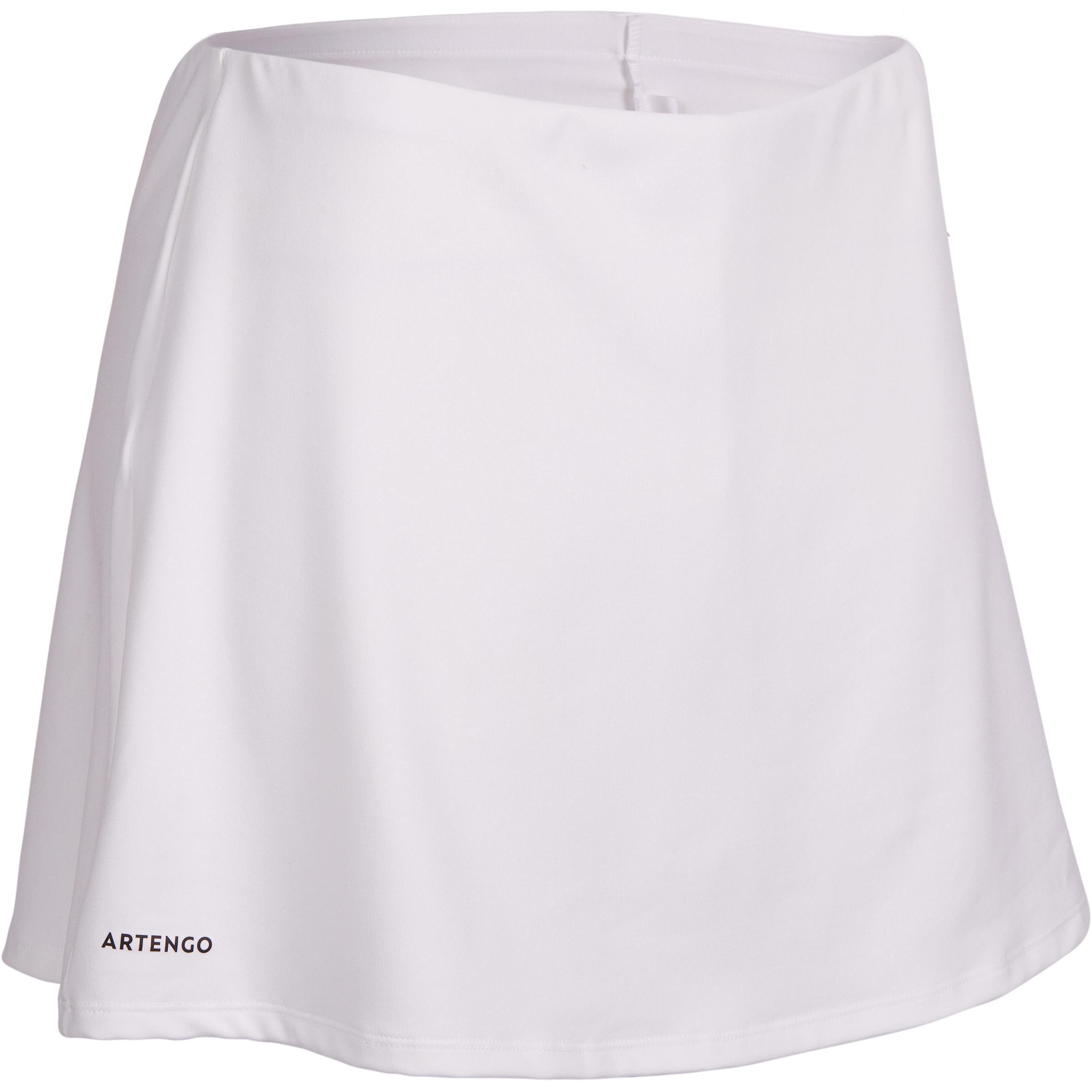 Tennisrock Essential 100 Damen weiß | Sportbekleidung > Sportröcke | Artengo