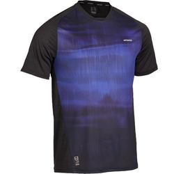 CAMISETA DE TENIS HOMBRE camiseta corta DRY 500 NEGRO AZUL