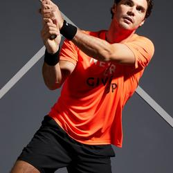 T SHIRT TENNIS HOMME SOFT 100 ORANGE